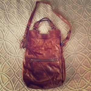 Lucky Brand Cognac Leather - Abbey Road Crossbody